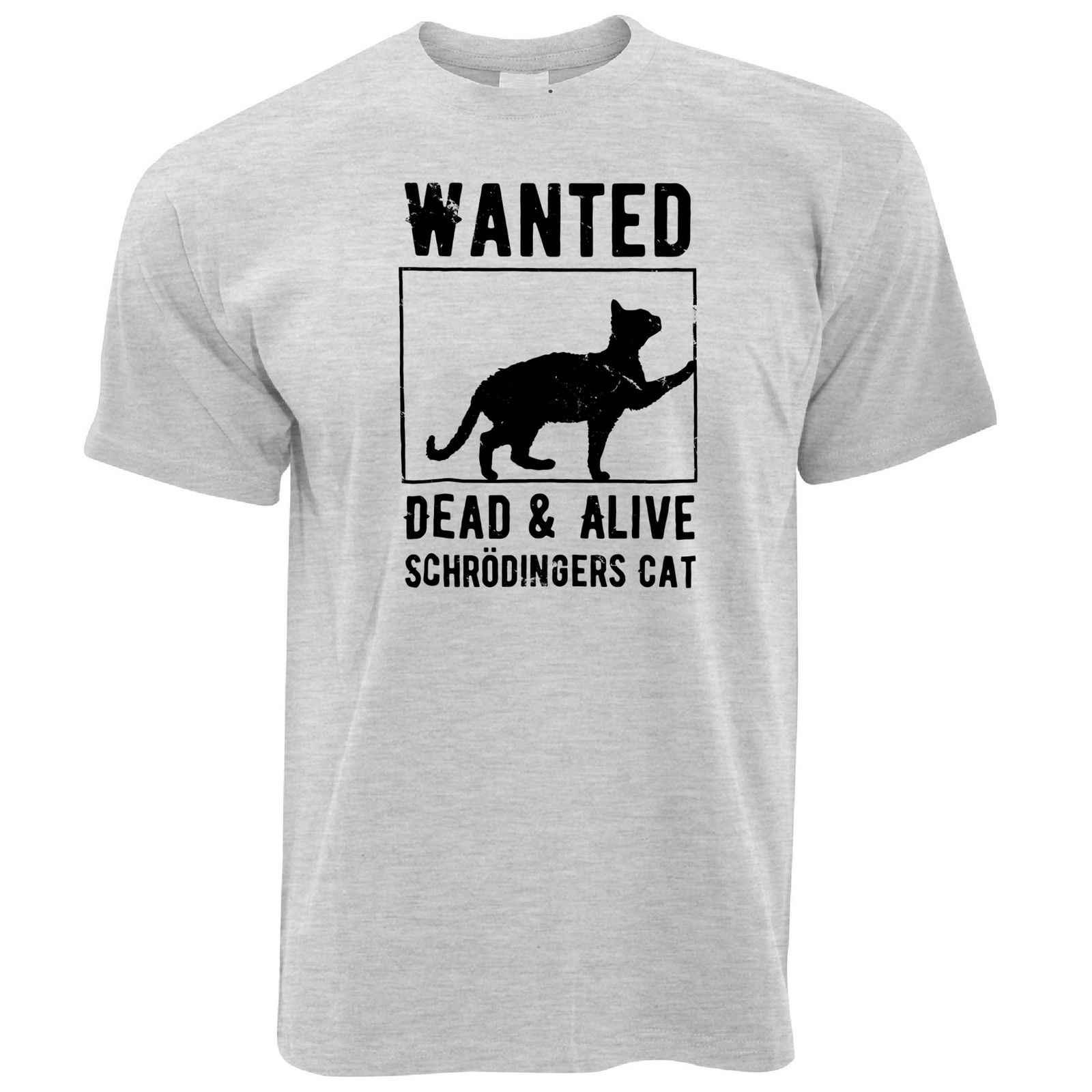 חידוש Nerd T חולצה רצה: Schrödinger של חתול בדיחה חנון מדע פרדוקס