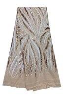 Nuevo estilo hermosa tela de encaje neto francés de alta calidad barato bordado tela del cordón de nigeria para la boda vestido WKS36-2