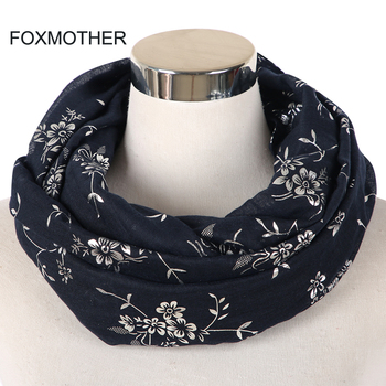 FOXMOTHER New Fashion Navy Grey Black Foil Sliver Floral Scarf Ring Snood Glitter Foulard Shawl Hijab Scarves Women Ladies foxmother new design femal black grey red metallic gold foil glitter floral shawls wrap scarf for women