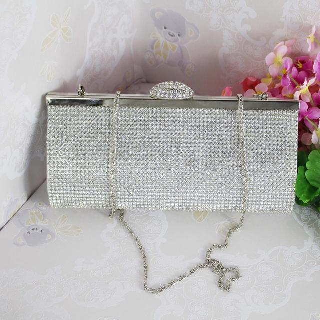 2017 Lady Diamond Dinner Bag Women Evening Clutch Bag Rhinestone Bridal Wedding Party Handbag Women Luxury Brand Bags Bolsos