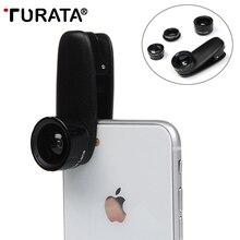 TURATA 5 in 1 Wide Angle Macro Fisheye Lens Kit + Clip Smart