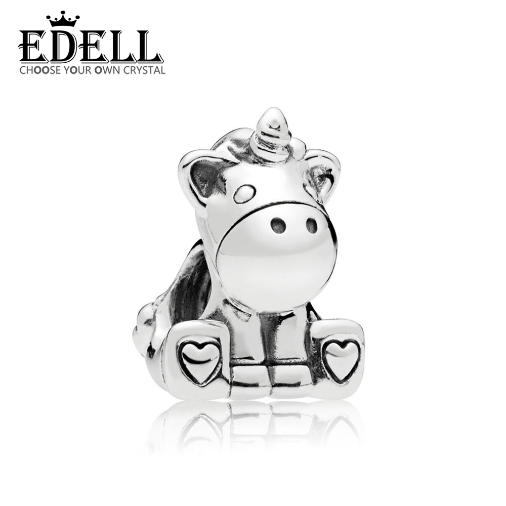 EDELL 100% 925 Sterling Silver New Charm Cute Cow Beaded Exquisite Lucky Women Gift Original Jewelry Factory Direct Sales 797609 ovxuan factory direct sales 100