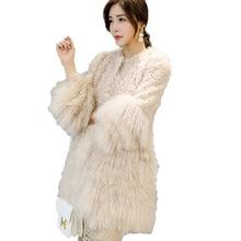 Real Fur Coat Vintage Lamb Beach Wool 100% Wool Coat Autumn Winter Jacket Women Clothes 2019 Korean Sheep Shearling Fur ZT1551