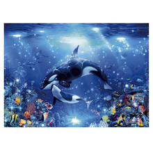 DIY diamond painting sea world dolphin full embroidery Marine life Coral Mosaic fish cross stitch decor