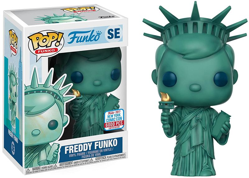 Exclusive Special Edition: 6000Pcs NYCC Funko pop Official Liberty Freddy USA Vinyl Action Figure Collectible Model Toy In Stock limited edition original funko pop dc universe green lantern the arrow vinyl figure collectible model toy with original box