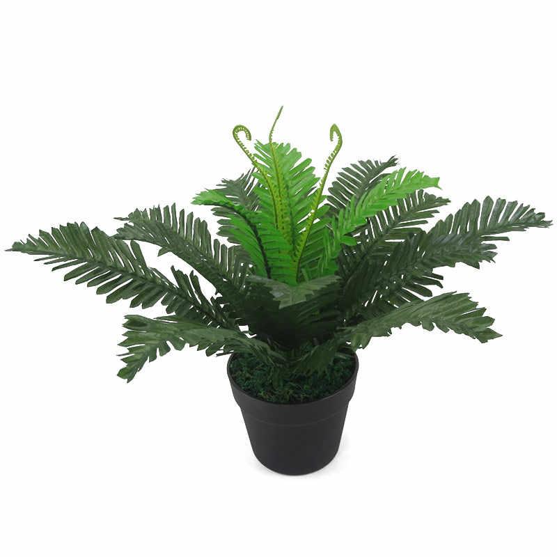1 Branch 44cm Artificial Tropical Broadleaf Branch Grass Simulation Green Leaf Desktop Bonsai Decor Not Included The Vase Artificial Plants Aliexpress