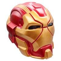 2019 New Anime Marvel's The Avengers Superhero Iron Man Tony Stark Cosplay Masks PVC Full Head Mask LED Helmet Toy Decoration