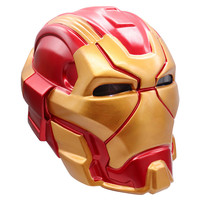 2019 New Anime Marvel's The Avengers Superhero Iron Man Tony Stark Cosplay Masks PVC Full Head Mask LED Helmet Toy Decoration