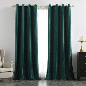 Image 5 - Luxus Samt Blackout Vorhänge für Wohnzimmer Hohe Shading Solide Vorhang für Das Schlafzimmer Jalousien Vorhänge Fenster Tür Blau Gelb