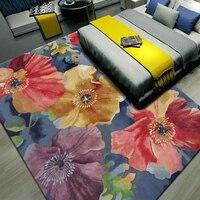 Европейский цветочный 100% овечья шерсть для Гостиная Прихожая прохода коридор большой коврик ковры украшения коврики на заказ
