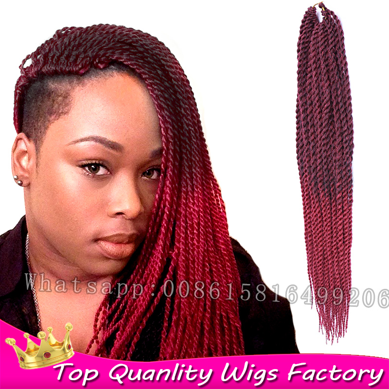18inch 70g Synthetic crochet senegalese twist xpression braiding hair ...