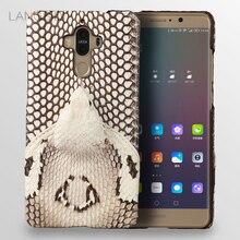 wangcangli brand phone case real snake head back cover shell For Huawei Mate 9 full manual custom processing