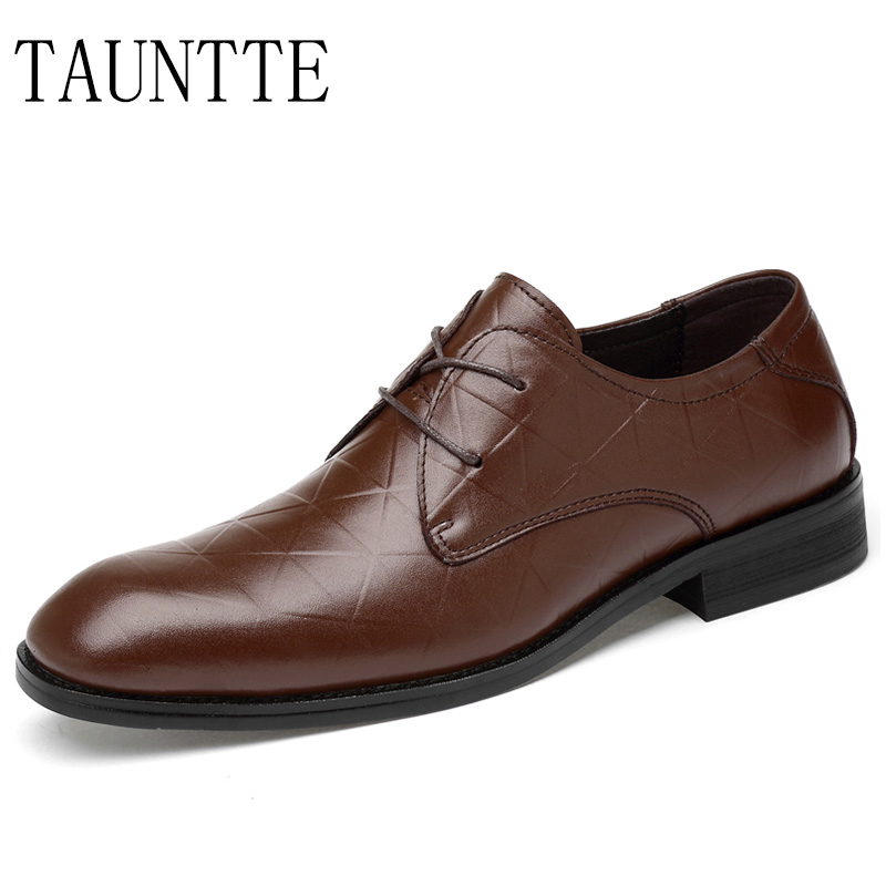 Tauntte Genuine Leather Dress Shoes Men Business Office Shoes Anti-odor Cow Leather Casual Shoes fashion men boat shoes genuine leather casual shoes breathable male anti odor casual shoes