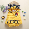 2017 children outerwear baby girls cotton Hooded coats Winter Jacket Kids Coat children's winter clothing Girls Down & Parkas