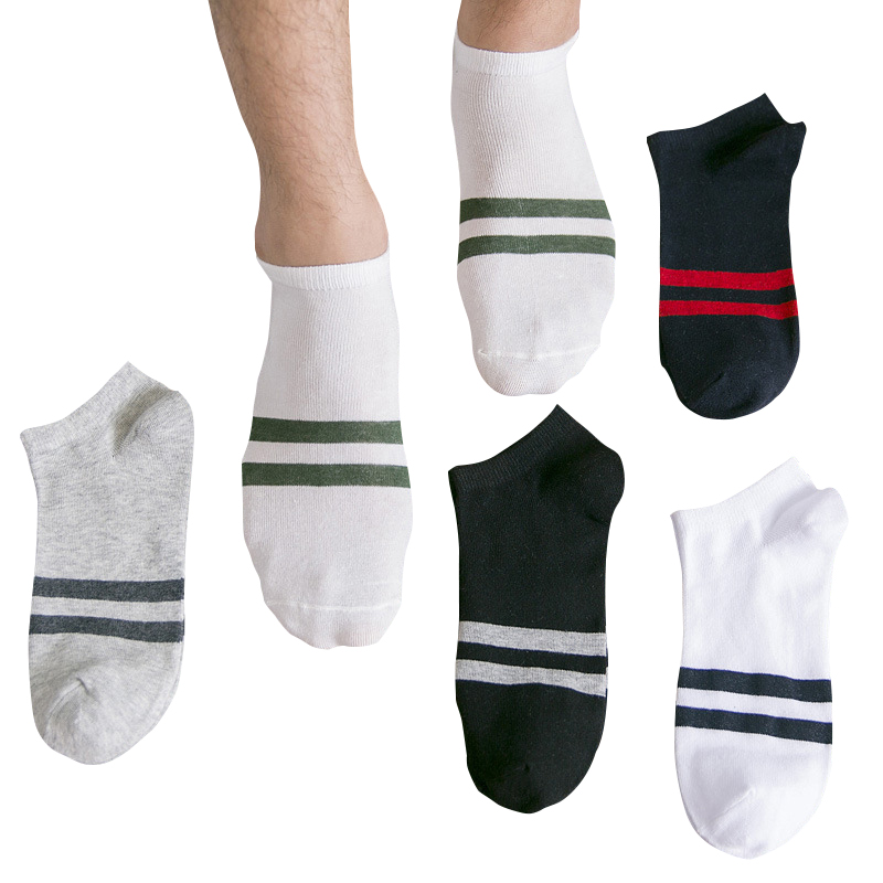 ZQTWT 5 Pair/Lot Stripe Mens Casual Cotton Socks Creative Crew Socks Women Sock Colorful Funny Happy Socks Calcetines 3WZ094