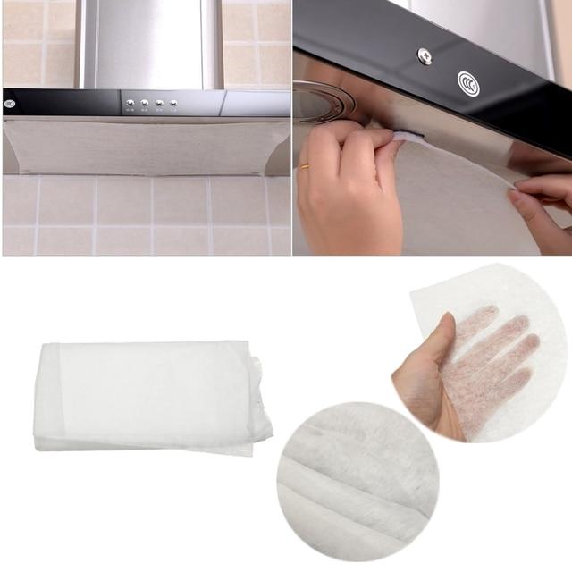 universel 45x60 cm cuisine absorbant papier non tiss anti huile coton filtres hotte hotte aspirante