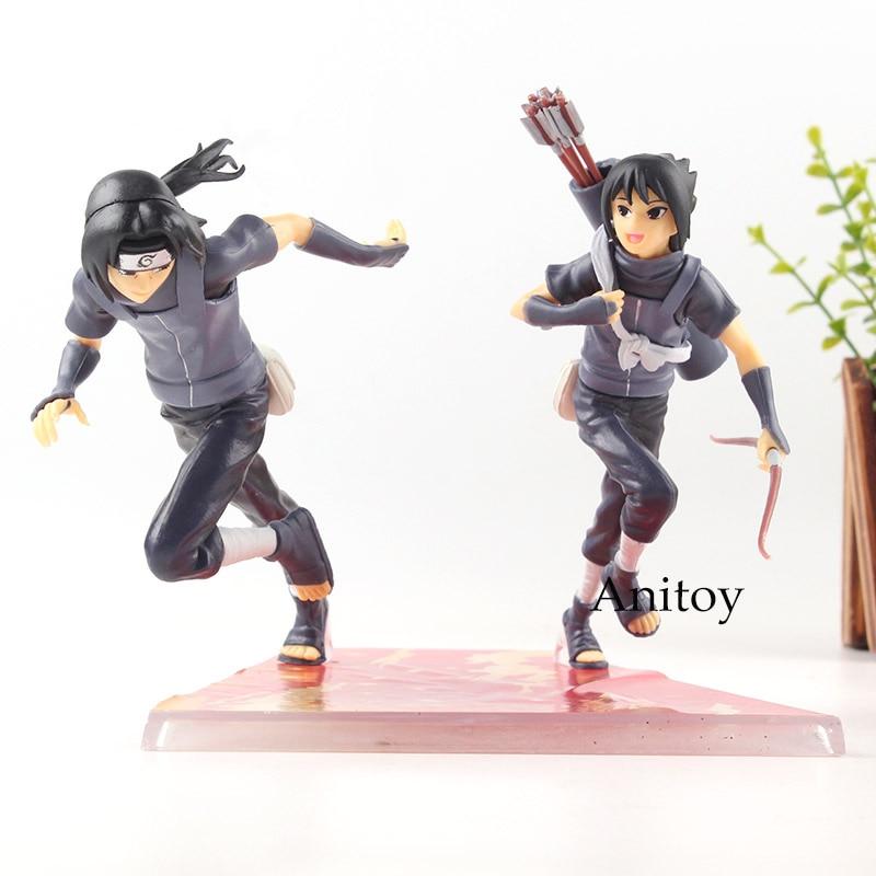 Naruto Shippuden Figure Action Uchiha Itachi & Uchiha Sasuke Figures Childhood Ver PVC Collection Model GEM MegaHouse Toys