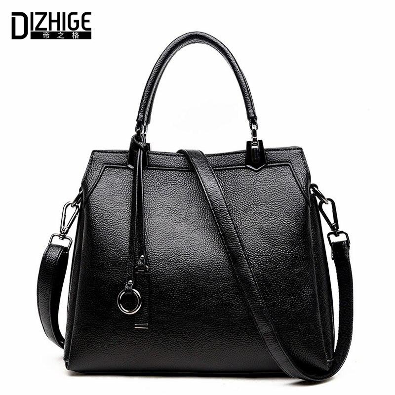 ФОТО DIZHIGE  Handbags Women Bags Designer Real Leather Shoulder Bag Tote Ladies Sac