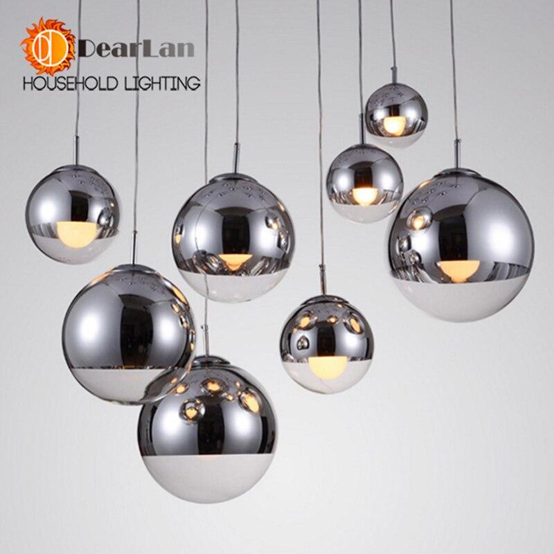 Aliexpress Attraktive Kupfer Splitter Glasschirm Silber Innenspiegel Pendelleuchte E27 LED Glas Ball Innen Wohnzimmer Lampen Von