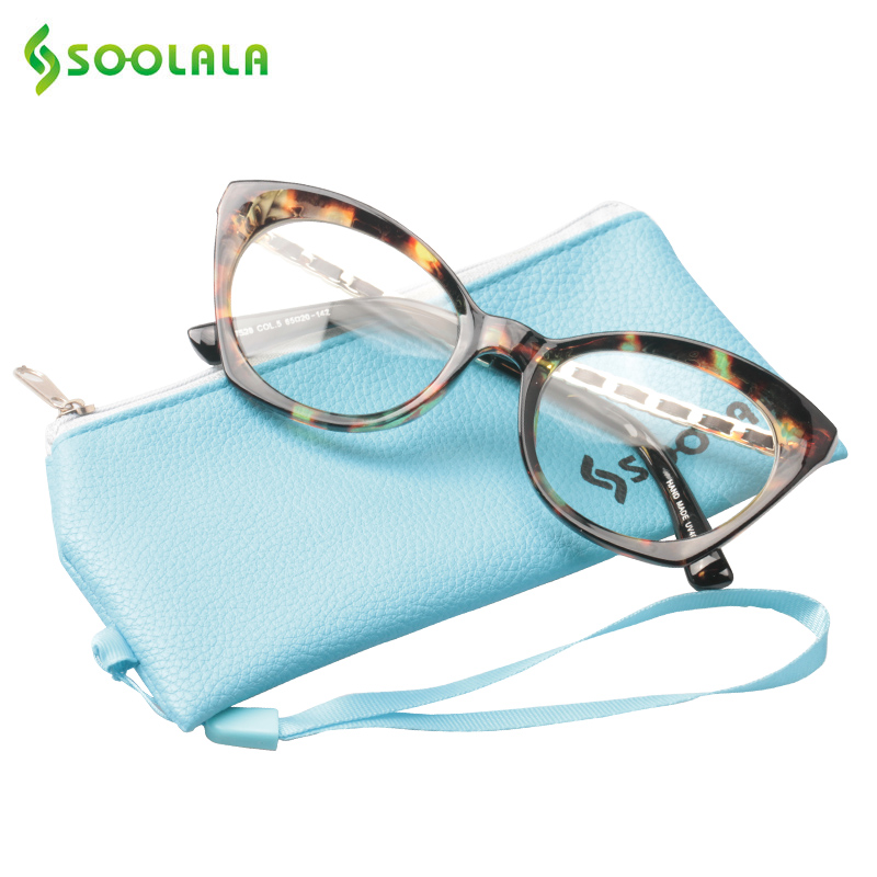 f5c7cb8955 SOOLALA Large Frame Reading Glasses Womens Mens Fashion Eyeglasses Clear  Glasses Frame Magnifying Presbyopia Glasses +0.5 to 4.0