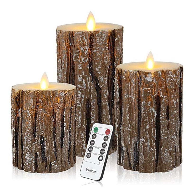 3 шт. светодиодный светильник Свеча на батарейках, лампа для свечей с дистанционным управлением, восковые свечи на день рождения, электрические свечи на Рождество 30 - 3