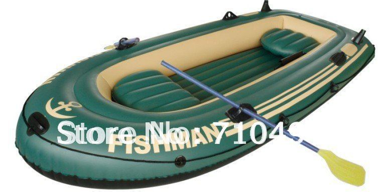 free DHL shipping JiLong Fishman 300 3 persons air fishing boat, rigid inflatable boat pump & paddle cushions - Show You The Best store