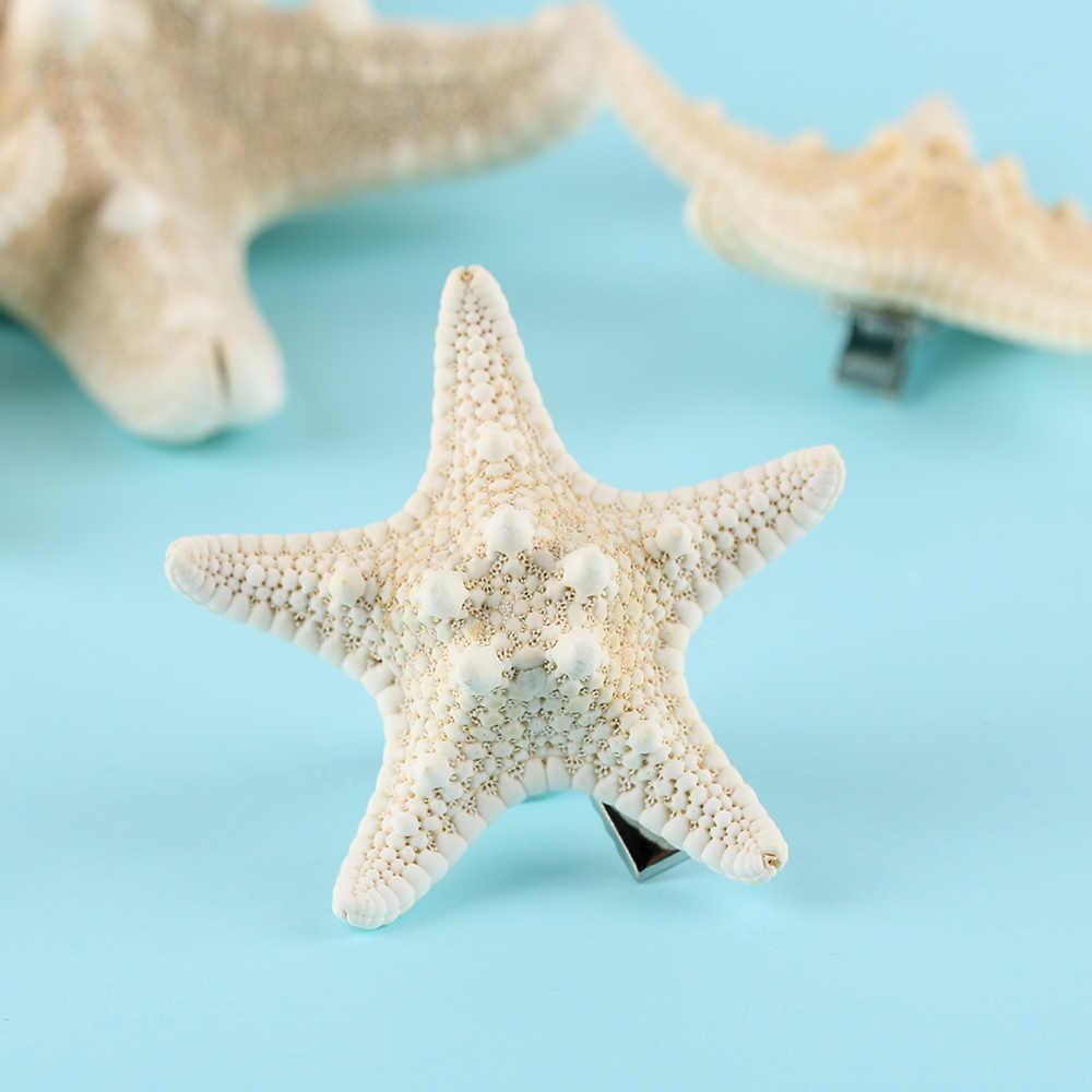 1/2 piezas de señora de la moda de pelo Clips mujeres elegante de estrella de mar HairpinsGirls verano playa broches accesorios para el cabello