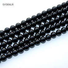 Wholesale Aaa + High-Quality Natural Black Agate Stone For Jewelry Making Diy Necklace Bracelet 4 6 8 10 12 MM 15.5  Strand