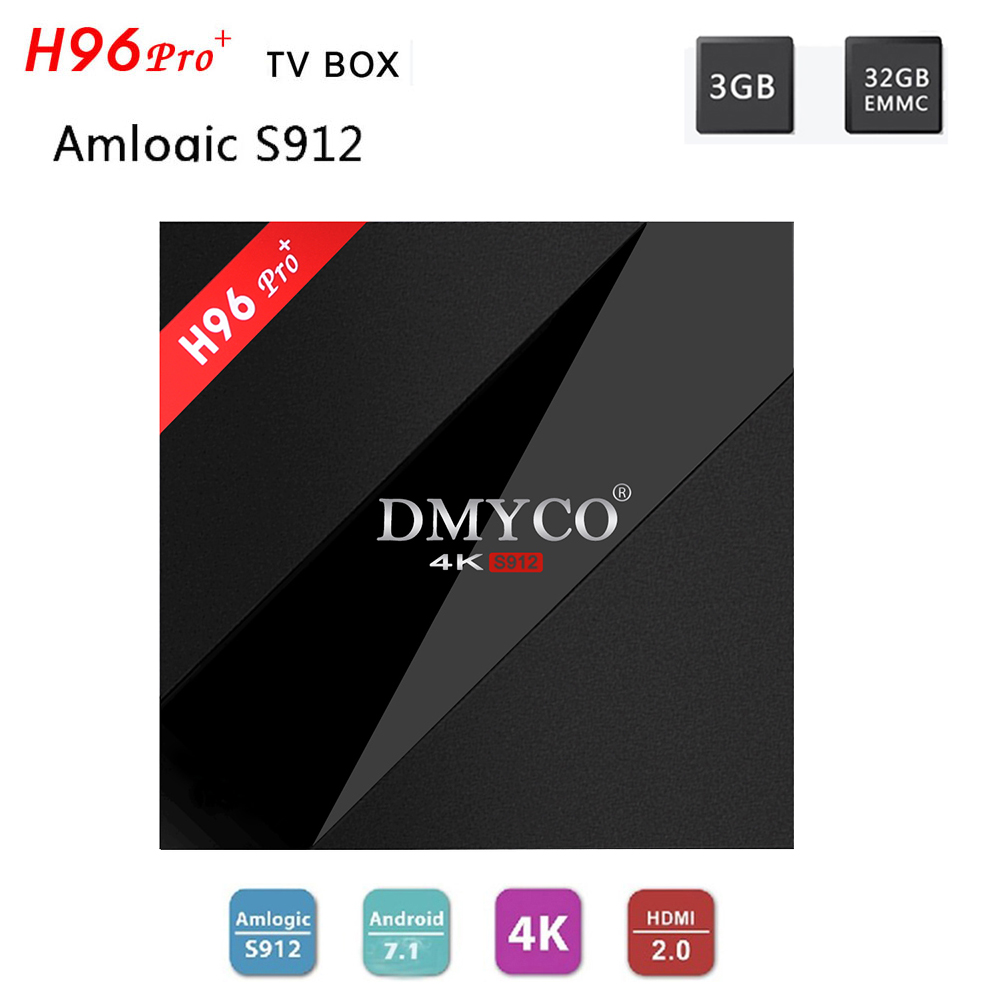 H96 Pro Plus Android 7.1 3GB 32GB TV Box Amlogic S912 Octa Core 4K ultra HD Smart TV Box 2.4G/5G Wifi BT 4.1 Media Player H96pro h96 pro plus 3gb 16gb amlogic s912 octa core android 6 0 tv box uhd bt4 1 streaming media player with mini keyboard i8