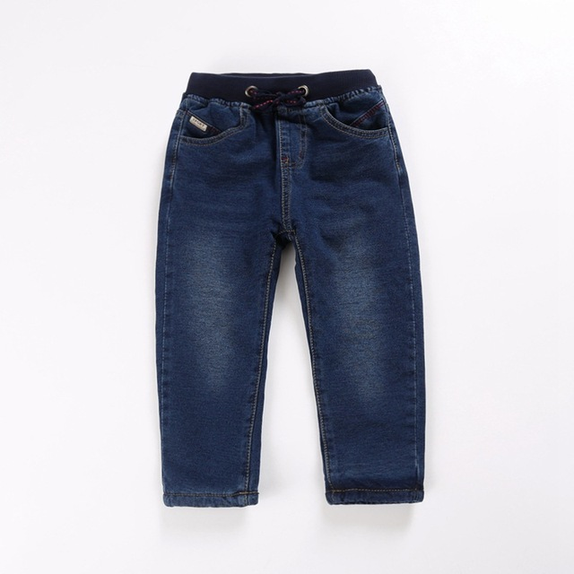 Lavagem com água dupla-camada denim stretch calças das crianças calças de veludo das crianças de idade de 2-8 T