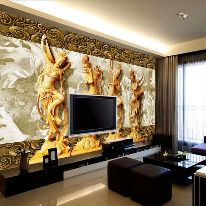 beibehang four classic beauty papel de parede 3d Wall Murals Vinyl Wallpaper for living Room 3d flooring Photo Mural wall paper 3d papel de parede artificial bamboo wallpaper mural rolls for background 3d photo wall paper roll for living room cafe