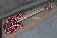 Freies Verschiffen Billig Neue hot Top Qualität musikinstrumente EVH Wolfgang Elektrische Gitarre Rote evh gitarre mit tremolo 140501