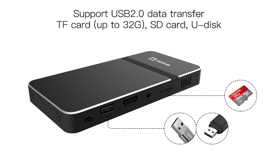 8-Support USB and TF card