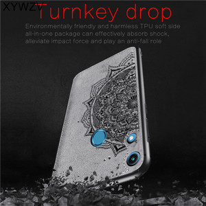 Image 2 - Huawei Honor 8A Pro Shockproof Soft TPU Siliconen Doek Textuur Hard PC Telefoon Case Huawei Honor 8A Pro Back Cover honor 8A Pro