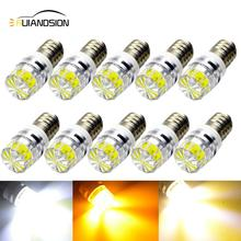 Dc 3V 6V 12v COB E10 bombillas led bulb light Device Button Small Indicator lights Warning bulbs 2W white yellow 4300K With Lens