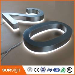 Заводская розетка 25 см высокая 304 нержавеющая сталь с светодио дный подсветкой led номер дома знаки