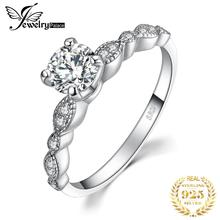 JewelryPalace Vintage 1.2ct Cubic Zirconia Anniversary Promise Solitaire Engagement Ring 925 Sterling Silver Ring For Women цены