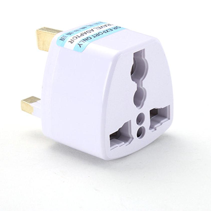EPULA 2018 Connector UK plug White Universal US EU AU Converter to UK HK AC Travel Power Plug Charger Adapter