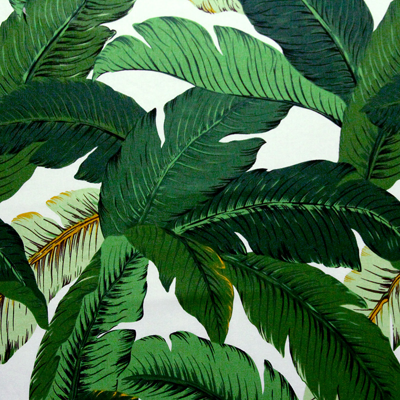 Southeast Asia cotton green banana leaves clothing fabrics