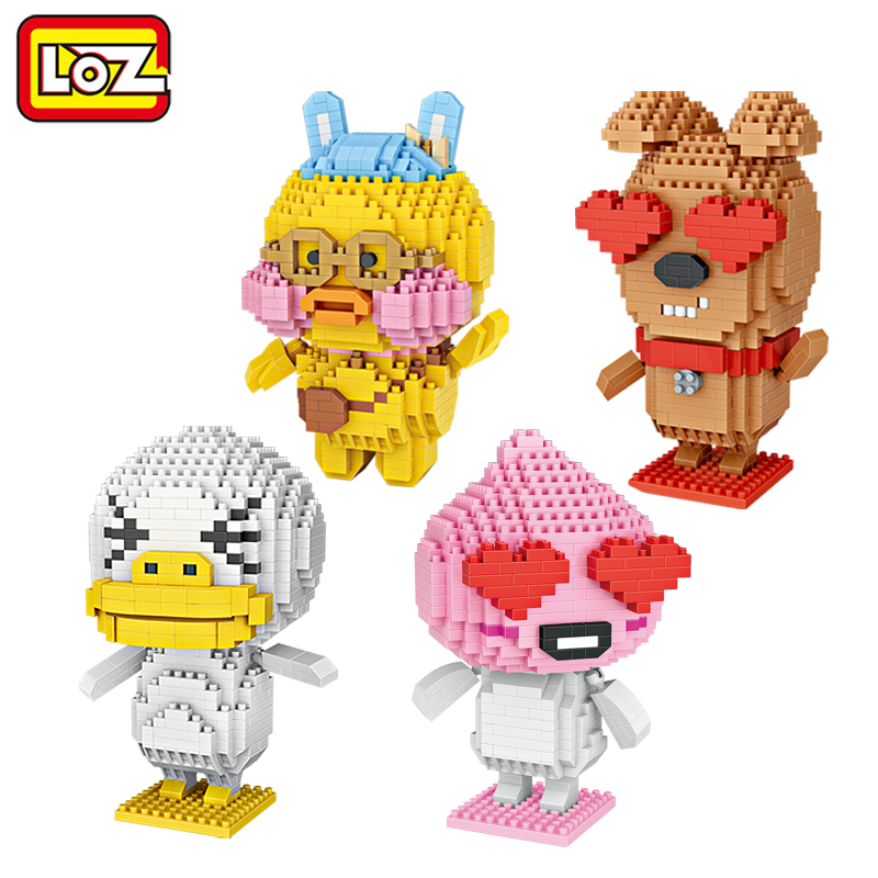 LOZ Ugly Duckling Puppy love Cafe Mini Diamond Building Blocks Children Intelligence Models Building Toy