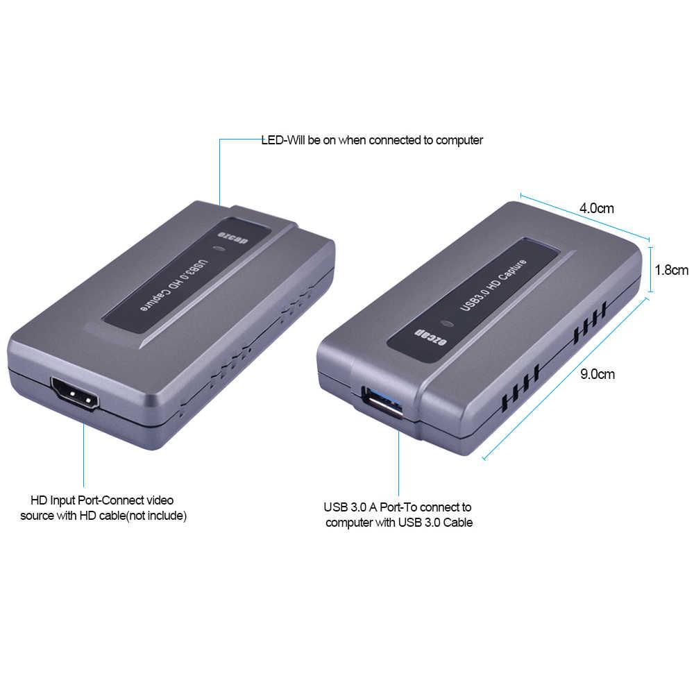 Ezcap287 USB 3,0 HDMI игры Capture Live Streaming запись 1080 P 60fps Plug and Play для xbox один для PS3 4 для WII U Поддержка OBS
