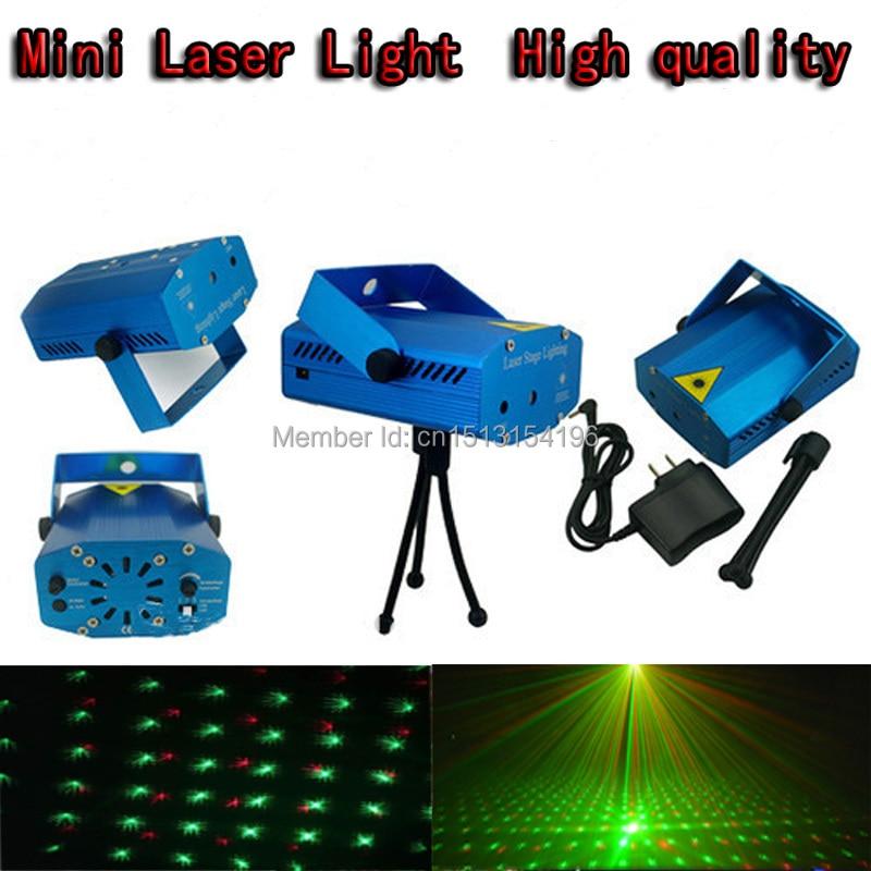 Sininen ja musta Mini-laservalaisin, jossa 150mW Mini Puna-Vihreä Ääni-aktivoitava joululomavaloon dj-vaihevaloon