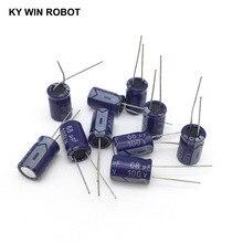 10 adet Alüminyum elektrolitik kondansatör 68 uF 100 V 10*17mm frekuensi tinggi Radyal Elektrolitik kondansatör