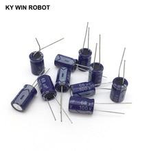 10 pcs Aluminum electrolytic capacitor 68 uF 100 V 10 * 17 mm frekuensi tinggi Radial Electrolytic kapasitor