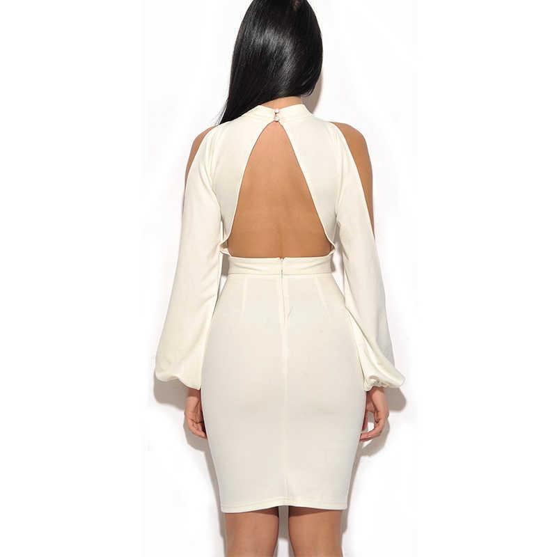 Элегантное Белое Облегающее Платье Новое в футболка для подростков стрейч-креп мини холодное плечо платья женские вечерние платья FH14