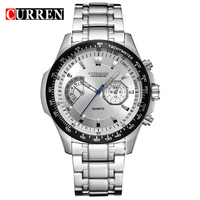 Curren Quartz Steel Business Man Wristwatches Military Men S Sport Watches Watched Luxury Fashion Relogio Curren