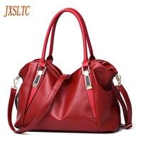 JXSLTC Women's HandBags lady pu Leather bags Totes Messenger Bags High Quality Designer Luxury Brand Bag