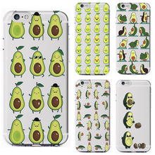 Avocado Cartoon Cute Hollow 2019 New Fashion Soft Silicone Transparent Phone Case Cover For iPhone 7 6 6S 8Plus 5S X XS XR XSMax