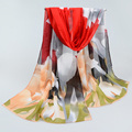 Новый 2016 Мода Мягкий Тонкий Шифон Шелковый Шарф Женщин печатных Шарфы Платки Sjaal Cachecol женщина для шарф люксовый бренд