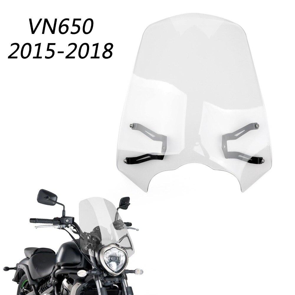 Areyourshop Motorcycle Accessories Windscreen Windshield Screen w/ Bracket For Kawasaki Vulcan S EN 650 2015-2018 New Arrival